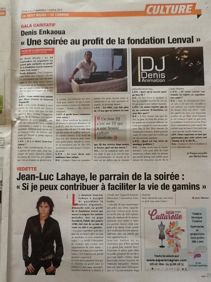 Le Petit Niçois Septembre 2013 - Gala caritatif - Une soirée au profit de la fondation Lenval