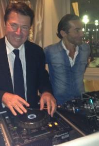 Inauguration du Hard Rock Cafe.2 nov 2014 en présence du maire de Nice Mr Christian Estrosi